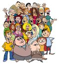 Cartoon People Characters In The Crowd Royalty Free Stock Image - 99811226