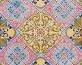 Detail Of The Traditional Tiles From Facade Of Old House. Decorative Tiles.Valencian Traditional Tiles. Floral Ornament. Spain Stock Photo - 99878790