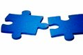 Puzzle - Blue Contact Royalty Free Stock Images - 9990799