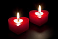Heart Shaped Candles Stock Photo - 9995490