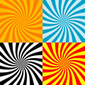 Twirl Burst Background Collections (vector) Royalty Free Stock Photo - 9996575