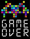 Game Over Cartoon Slogan Stock Images - 99978204