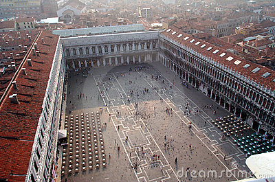 Aerial view of San Marco Square