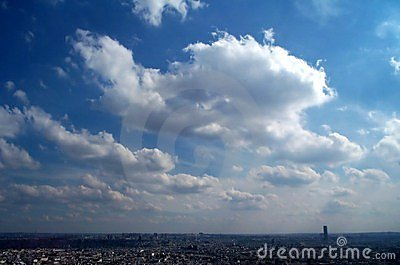 Blue sky over Paris