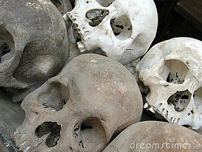 Killing fields human skulls