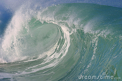 Waimea Bay Wave in Hawaii