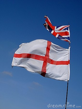 England Flag and Union Jack