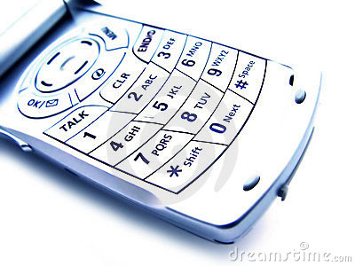 Abstract Cellular Phone - Isolated
