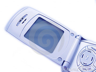 Blank Screen of Cellular Phone