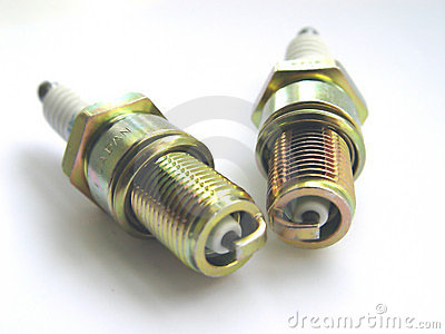 Two Spark Plugs