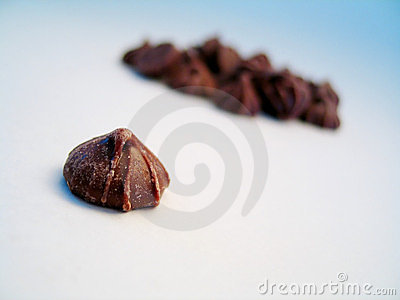 Chocolate bud, isolated