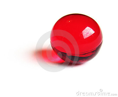 Red bath ball.