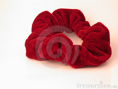 Red Hair Scrunchy