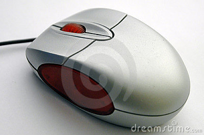 Computer mouse diagonal view