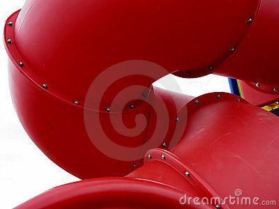Red Playground Slide