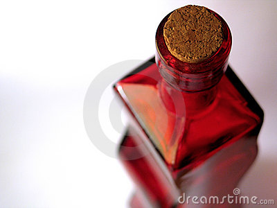 Red Glass Bottle #2