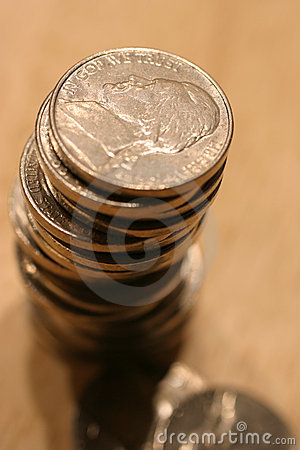 Stack of US Nickles