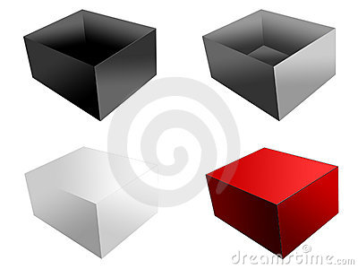 Boxes, isolated