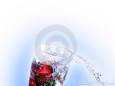 Fresh strawberry drink