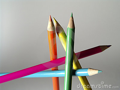 Free Standing Colored Pencils