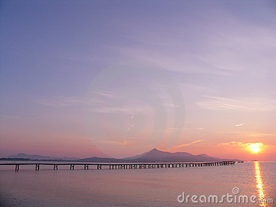 Pier to sunrise