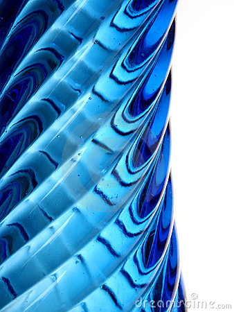 Profile of a blue glass vase