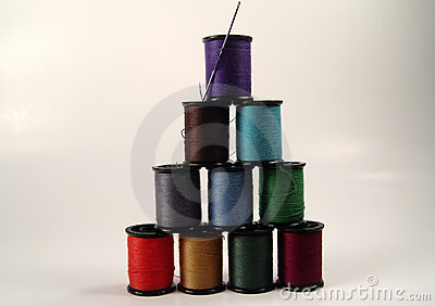 Sewing Spool Pyramid