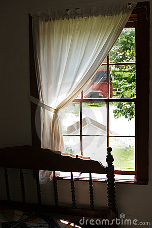 View from an Amish bedroom window