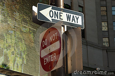 One way - Do Not Enter