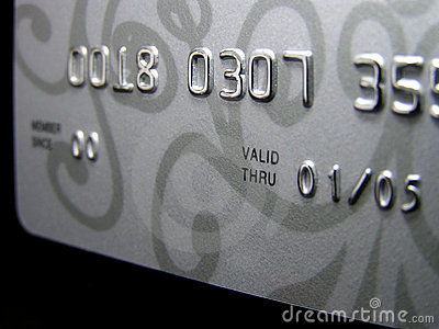 Credit card (closeup)