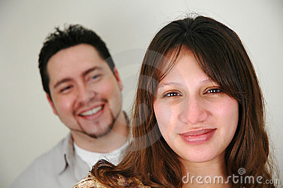 Couple with focus on woman