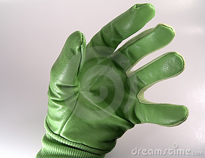 Hand in Green Glove
