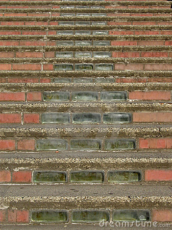 Brick and Glass Stairs
