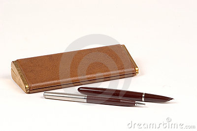 Antique pen and pencil set