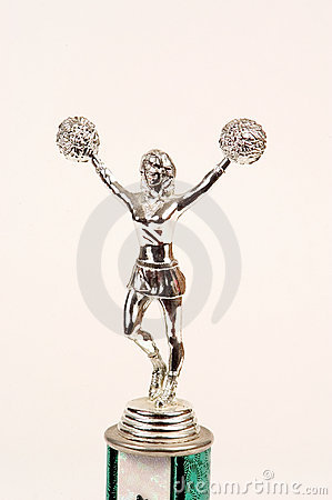 Cheerleader trophy top