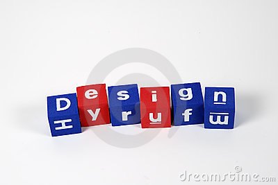 Design Spelled From Blocks