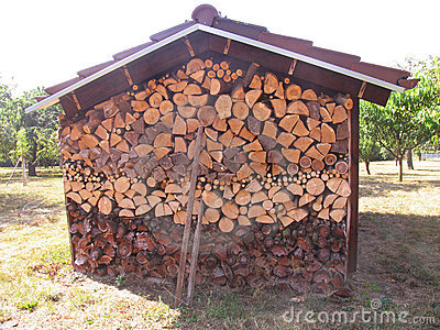 Wood pile cottage