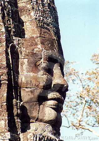 Face on temple