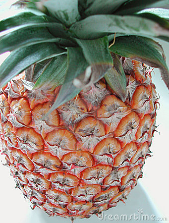 Pineapple top down view