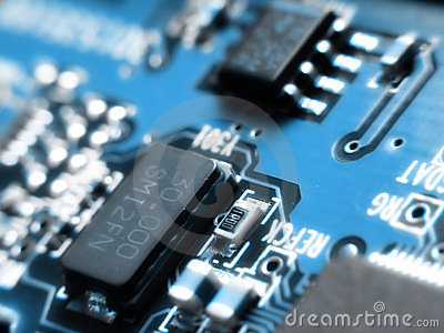 stock image of blurred electronics