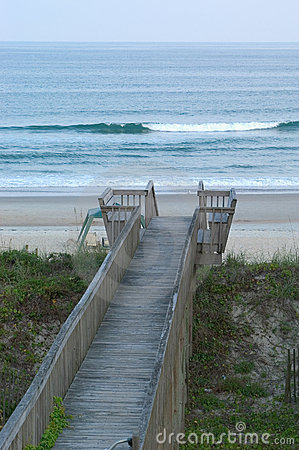 Boardwalk to the beach.