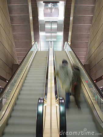 Moving escalators