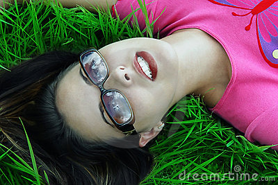 Girl Relaxed Daydreaming