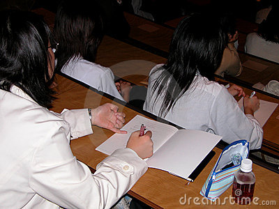 Students at the lecture