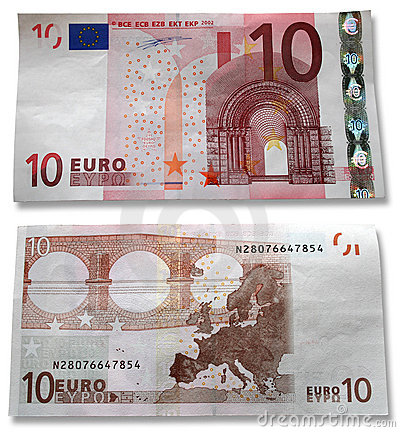 10 Euros. Head and the reverse