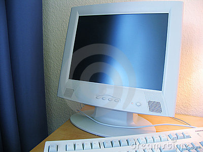Computer at the hotel