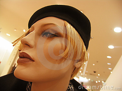 Female mannequin head