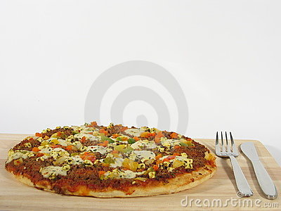 Pizza with Cutlery