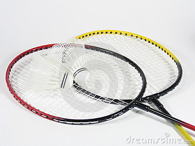 Badminton Raquets Crossed