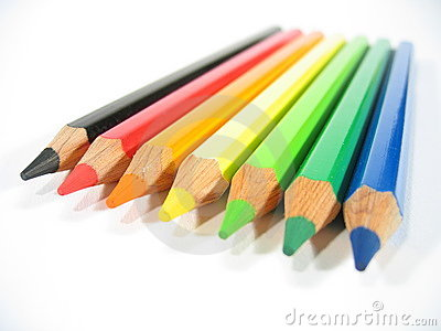 Colored Crayons VI